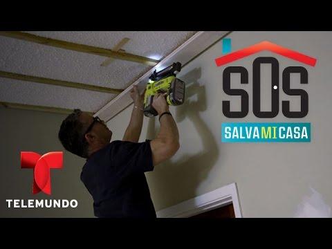 SOS Salva Mi Casa 2 | Video: Instalación de techo de madera | Telemundo