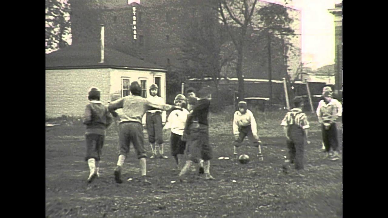 1928 backyard kids football in oak park illinois youtube