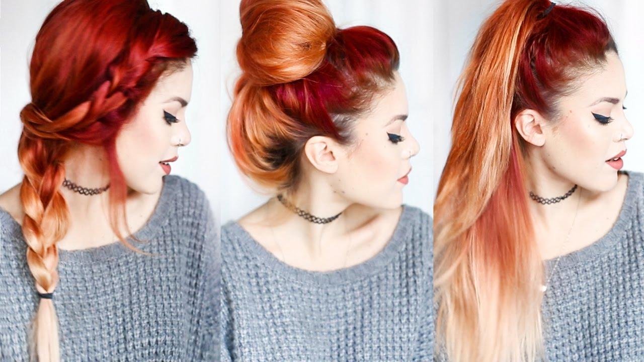 4 QUICK HAIRSTYLES! - Le Happy x Aveda - YouTube