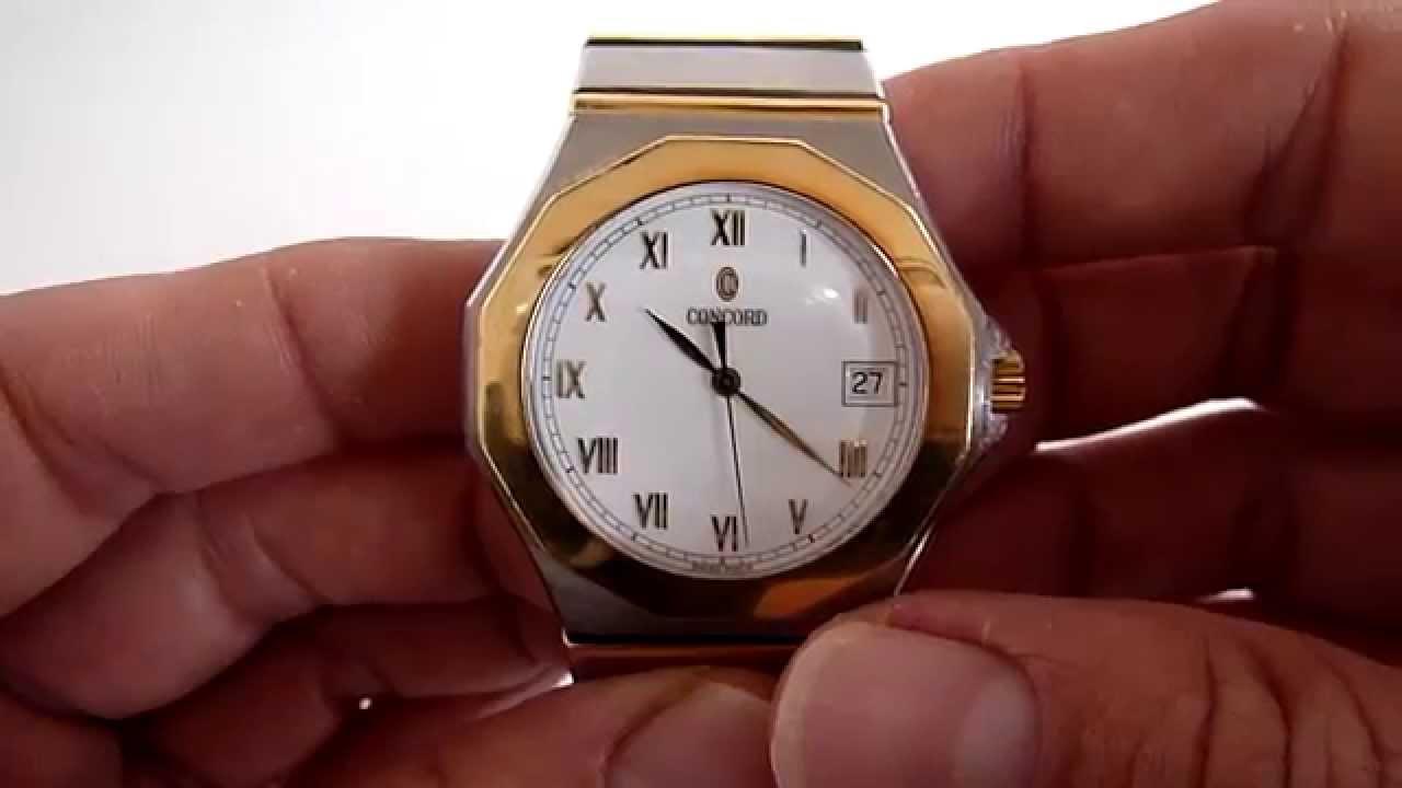 359952fd4c5a A LA VENTA) Reloj Concord Mariner Sg 500 Oro Sólido 18k-acero - YouTube