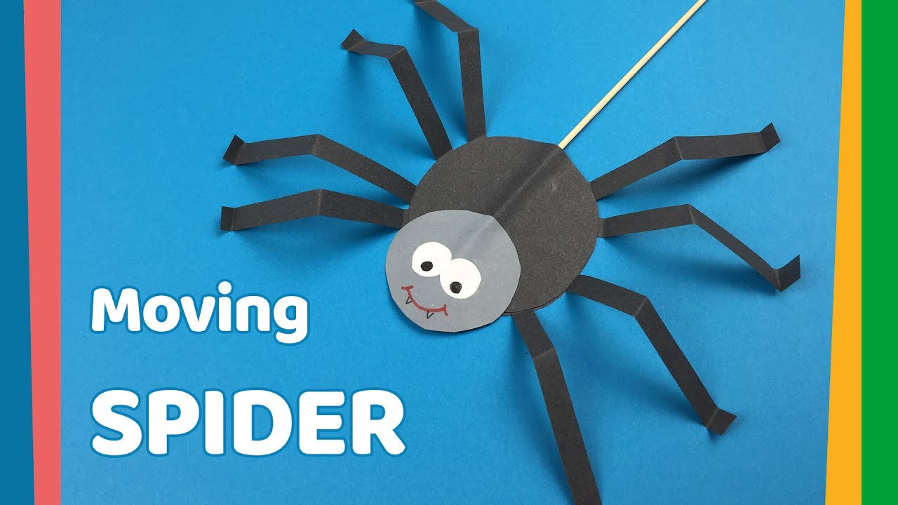 Diy For Kids Moving Spider Craft Very Easy And Fun Craft Youtube