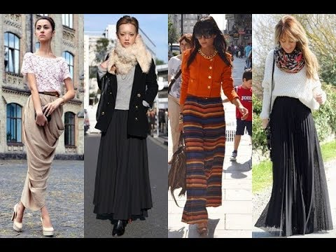 fae5fe2696 Different Ways to Wear a Maxi Skirt in Winter - YouTube