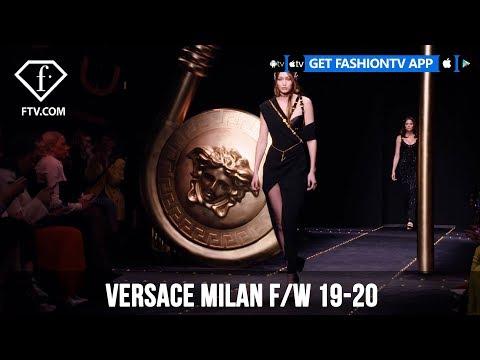 Gigi Hadid, Bella Hadid, and Kaia Gerber Versace Milan F/W 19-20 | FashionTV | FTV