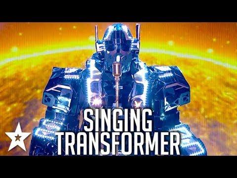 TRANSFORMER Robot Sings on Britain's Got Talent | Got Talent Global