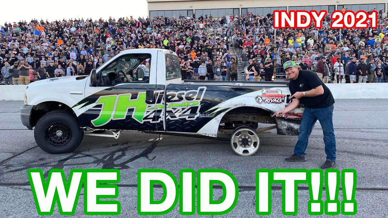 Biggest Burnout Contest Yet!!! Cleetus And Cars Indy!! We Send It!!
