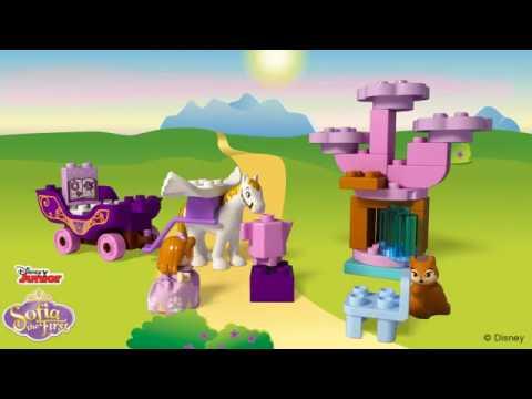 Lego Duplo Klocki Jej Wysokość Zosia Magiczna Kareta 10822 Youtube