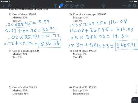 Markup, Discount, and Tax (Hard)