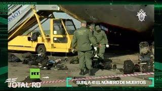 Sube a 41 el número de muertos en el accidente aéreo en Moscú