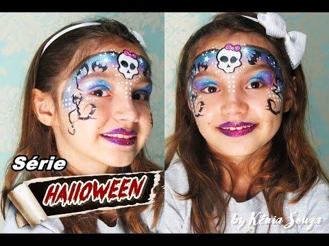 pinturas rpidas para halloween caveirinha pintura facial
