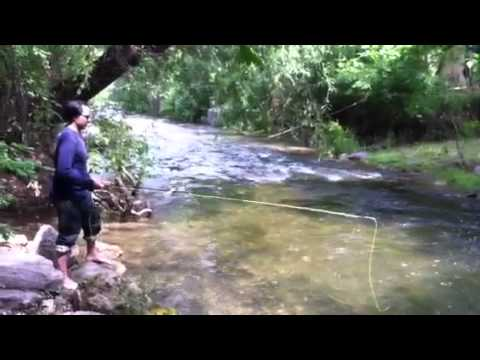 """Caleb """"Cro"""" Owens fly fishing in Sturgis"""