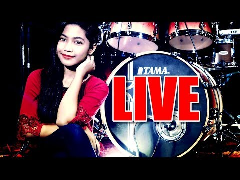 LIVE DRUM COVER 2019 - Nur Amira Syahira LIVE Chat