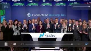 Steven Sladkus, appointed to Ambassador Board of ConnectOne Bank rings Nasdaq closing bell