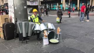 The Techno Tin Bin Man (And His Dancing Cats)