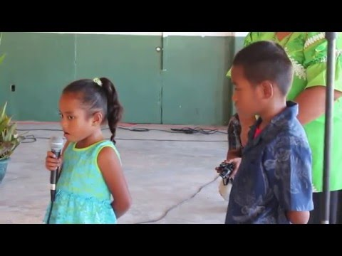 Majuro, RMI, 9/9/14, 1st National Climate Change Dialogue appeal from a young Marshallese girl