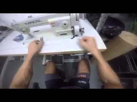 Máquina coser recta industrial typical gc 6-28-1 - YouTube