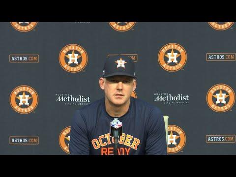 AJ Hinch previews Astros' ALCS showdown with Red Sox