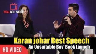 Best of Karan Johar Speech  | Conversation With Shobhaa De | 'An Unsuitable Boy' Book Launch thumbnail