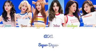 AOA (에이오에이) - Super Duper Han/Rom/Eng Color Coded Lyrics