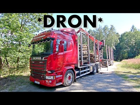*Holbra DRON* Scania V8 R580 in forest
