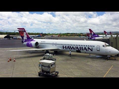 Landing At Lihue Airport (LIH) In Kauai, HI On A Hawaiian Airlines Boeing 717