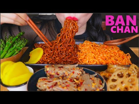 ASMR SAMYANG SPICY BLACK BEAN | CHEESY NOODLES | VEGGIE SIDE DISHES | EATING SOUNDS | NO TALKING