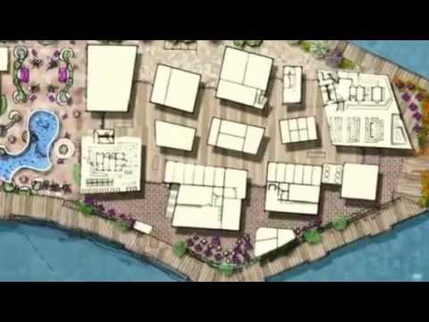 The Redondo Harbor Boardwalk & Outdoor Market  (Created wit