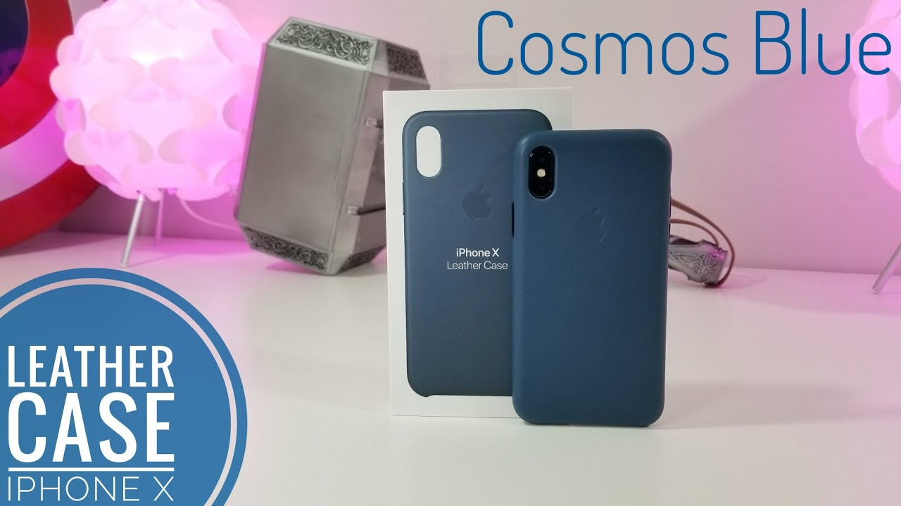 pretty nice 6a56d 4a4f7 iPhone X OFFICIAL Leather Case | Cosmos Blue Quick Look!