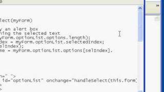 JavaScript: Handling the HTML SELECT onchange event (Part 2 of 2)