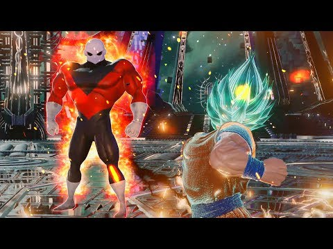 Jump Force - Jiren vs Super Saiyan Blue Goku Gameplay (MODS)