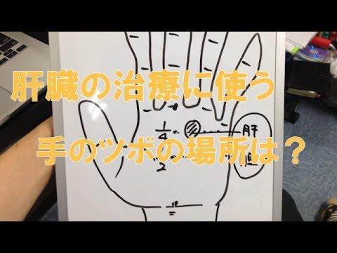 肝臓の治療に使う手のツボの場所は?