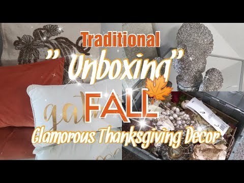Fall Thanksgiving Glam Home Decor