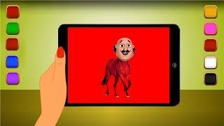 Motu Head Horse Learning Colors Tablet For Children And Kids | Let's Learn Colors Funny Video