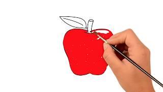 Как рисовать яблоки - дошкольное обучение - Pазвлекательныe и образовательные игры для детей
