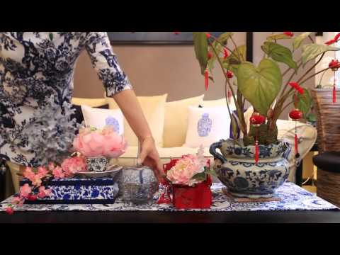SAME ROOM, DIFFERENT LOOK: BLUE & WHITE CHINA INSPIRED CNY DECOR