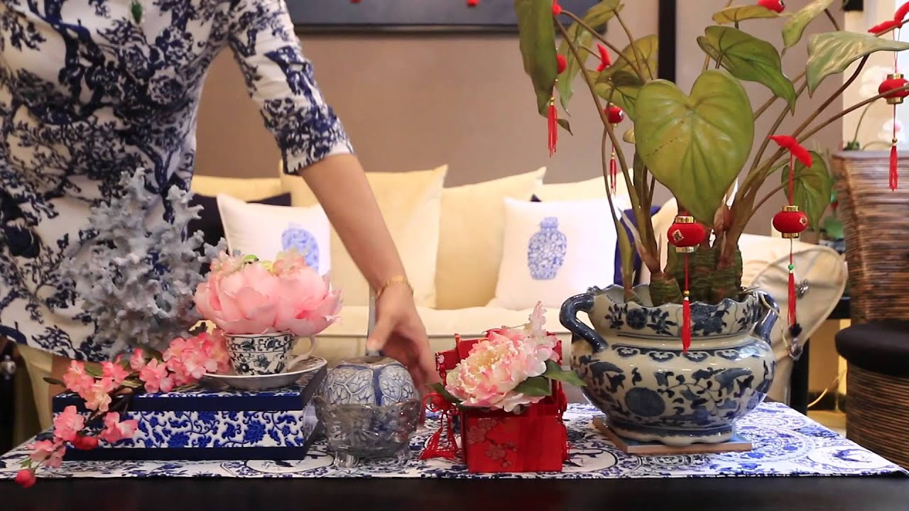 Decorating With Blue And White China: SAME ROOM, DIFFERENT LOOK: BLUE & WHITE CHINA INSPIRED CNY