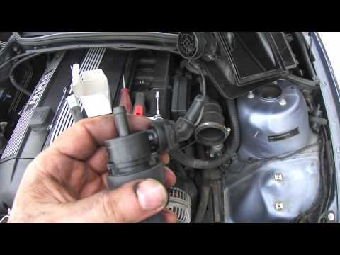 DIY EVAP Canister Purge Control Valve BMW - YouTube