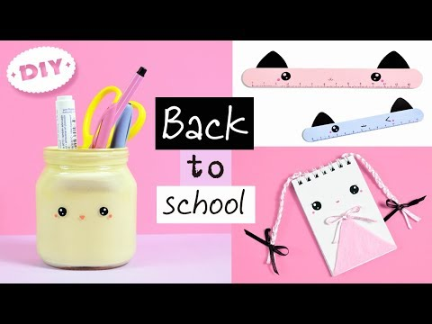 3 DIY School Supplies! KAWAII Crafts for Back to School! Easy Back To School DIY Projects!