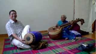 Kalpakam  Swaminathan (Veena) & Mali Umayalpuram (Mridangam) perform in Chennai 2008 PT3