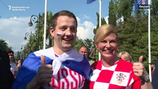 Croatian President Arrives In Sochi To Attend Croatia-Russia World Cup Quarterfinal