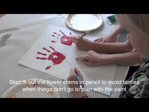 How To Make A Handprint Scroll Artwork