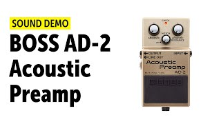 BOSS AD-2 Acoustic Preamp Sound Demo (no talking)