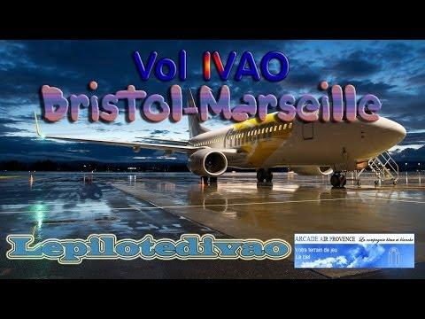 Vol IVAO Bristol-Marseille B737-800