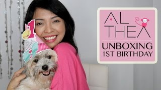 UNBOXING: #AltheaTurns1 - Mini Haul + Promos and ShopBack Giveaways   Gen zelTV