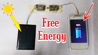 #Free Energy Solar Panel And Motor Power With Mobile Charger at Home | By Mkumar Technical