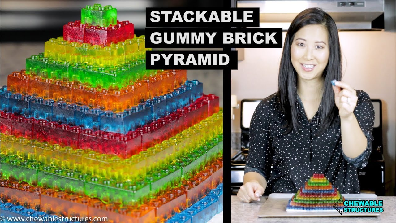 How To Make GUMMY LEGO Jello Candy - DIY Stackable Jello ...