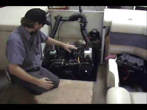 1999 Harris Kayot sunliner pontoon boat Mercruiser 4.3L marine engine - YouTube