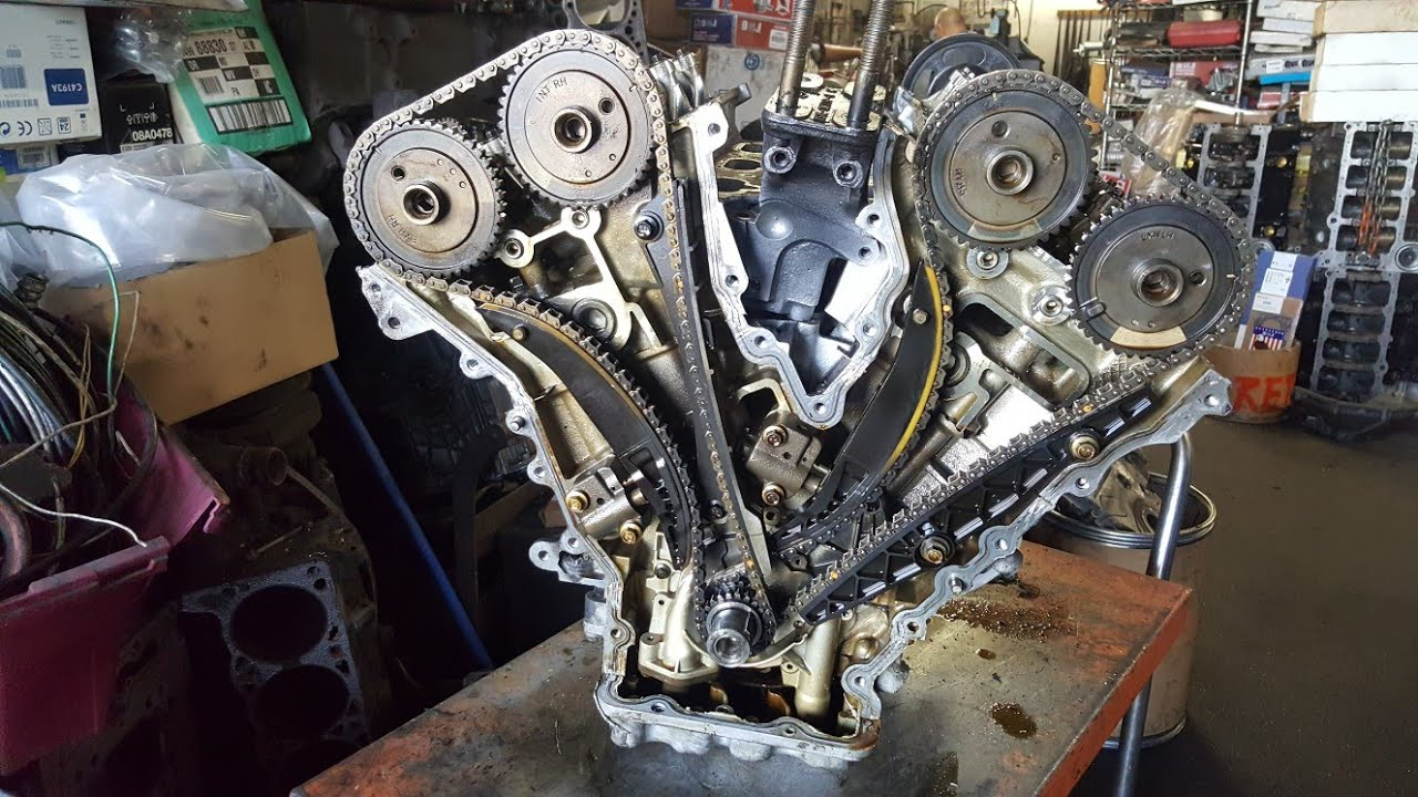 Ford 30 timing chain and head removal  YouTube
