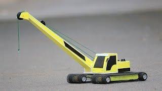How to make a CRANE - Excavator  - JCB