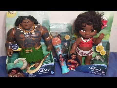 Moana TOYS Unboxing Talking Maui // Baby Moana // Moana Boat Collection