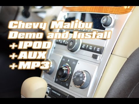 Chevy Malibu IPOD Iphone Installation with Isimple Pxamg, Radio Removal by Autotoys